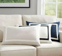 belgian flax linen frame lumbar pillow cover pottery barn