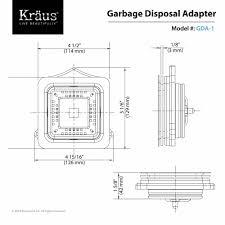 Garbage Disposal Backing Up Into Single Sink by Pax Garbage Disposal Adapter Kraususa Com