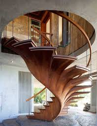 Decorating: Spiral Wooden Stairs Design - 15 Unique Stairs With ... Height Outdoor Stair Railing Interior Luxury Design Feature Curve Wooden Tread Staircase Ideas Read This Before Designing A Spiral Cool And Best Stairs Modern Collection For Your Inspiration Glass Railing Nuraniorg Minimalist House Simple Home Dma Homes 87 Best Staircases Images On Pinterest Ladders Farm House Designs 129 Designstairmaster Contemporary Handrail Classic Look Plans