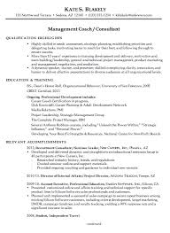 resume for a management coach or consultant susan ireland resumes