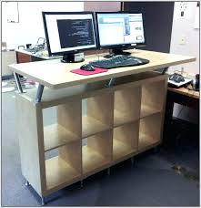 Ikea Computer Desk Hack by Standing Workstation Ikea My Standing Desk The Hack Ikea Standing