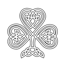 Celtic Art Coloring Pages Shamrock