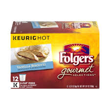 Folgers Gourmet Selections Vanilla Biscotti Coffee K Cup Pods