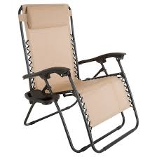 oversized zero gravity chair with pillow and cup holder pure