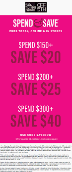 OFF 5TH Coupons - $20 Off $150 & More Today At Saks Off Saks Fifth Avenue Promo Code Columbus In Usa Saks Off 5th Outlet Container Store Jewelry Storage Sakscom Boutique Nars Sioux Falls Clinics Fifth Colossal Cave Campground Free Shipping Stackable Avenue Coupon Code And Of Macys 1 Day Sale 85 Coupons Discount Codes Off5th Stein Mart Charlotte Locations Rakuten Global Market Coupon