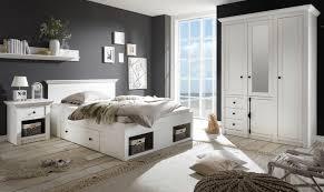 schlafzimmer komplett hooge in pinie weiß landhaus komplettzimmer mit bett kleiderschrank und nachttisch