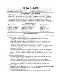 Diesel Mechanic Resume Sample Templates