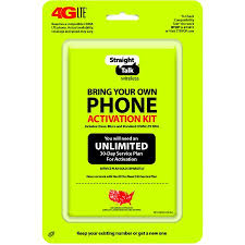 Straight Talk Bring Your Own Phone CDMA Activation Kit 4G LTE