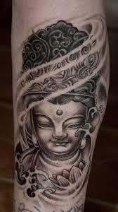 Amazing Asian Lord Buddha Tattoo Design