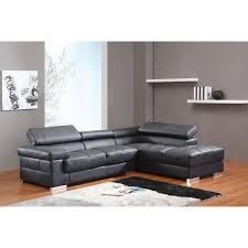 canapé angle en cuir canapé d angle en cuir avec têtières réglables vitalia noir droit