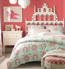 Coral And Aqua Bedroom Image Coral And Turquoise Bedding Ideas