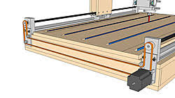 new machine build frankenbot cnc router