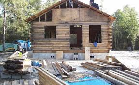 how to build a log cabin by hand homesteading