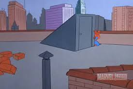 Spiderman Behind Desk Meme by Spider Man Hiding Pics Pleated Jeans