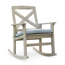 Cambridge Casual Tulle Wood Outdoor Rocking Chair With Teal Cushion My Favorite Finds Rocking Chairs Down Time Exciting Rattan Wicker Chair Cushions Agreeable Fniture Rural Grey Wooden Single Rocking Chair Departments Diy At Bq Outdoor A L Hickory 7 Slat Rocker In 2019 Handsome Green Tweed Cushion Latex Foam Rustic American Sedona Lowes For Inspiring Antique Classic Check Taupe Plaid Standish Darek La Lune Collection Belham Living Raeburn Rope And Wood Walmartcom