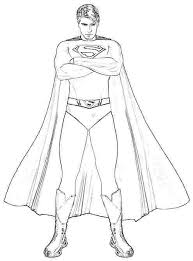 Coloring Picture Superman Best Return Pages Free 2404 Printable