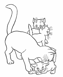 Cat Coloring Pages Letscoloringpages Siamese Play With Kittens