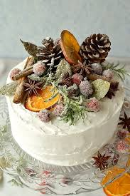 Fruit Cake With Rustic Decor