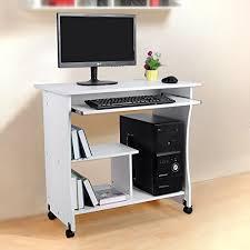 bureau pour ordinateur songmics bureau informatique roulant table informatique meuble