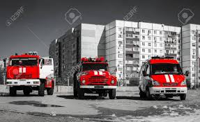 100 Red Fire Trucks Red Fire Engines On Black White Photo