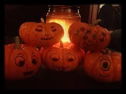 Foam Pumpkins Bulk by Decorating Mini Pumpkins Use Sharpies To Draw Cute Or Creepy