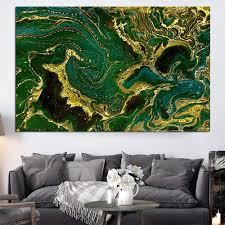 ölgemälde wandbilder für wohnzimmer home decor abstrakt gold