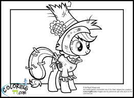 Applejack In Nightmare Moon Night Costume Coloring Pages