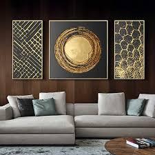 3 panels abstrakte gold folie moderne bilder leinwand