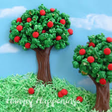 Rice Krispie Christmas Trees White Chocolate by Rice Krispie Treat Apple Tree Hungry Happenings