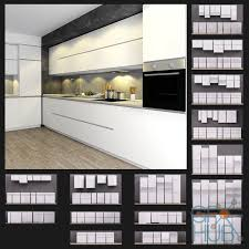 3d model white kitchen set ikea metod nodsta gfx hub