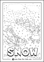 Image Of Snowy Day Colouring Page