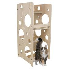modern cat tower cat tree modern wood cat tower frontpet