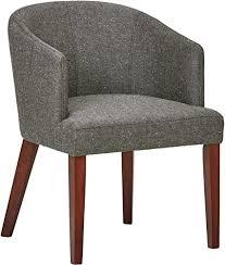 marke rivet alfred esszimmer akzent stuhl im stil der 1950er jahre mit breiter geschwungener lehne b 64 cm aschgrau
