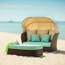 Hampton Bay Patio Furniture Cushion Covers by Hampton Bay Deerfield All Weather Wicker Patio Day Bed With Blue