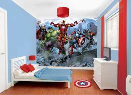 Superhero Wall Decor Stickers by Marvel Avengers Wallpaper Murals The Boys Need This For Their