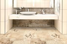 Travertine Bathroom Rustic Honed And Filled Room Flooring Ideas