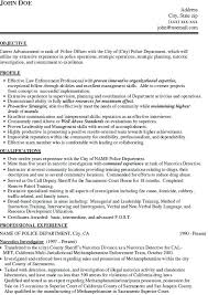 Law Enforcement Resume Template Military Police Officer