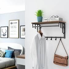 vintage wandgarderobe garderobenhaken wandregal mit 5 haken hakenleiste mit hängestange für flur schlafzimmer badezimmer und wohnzimmer lcr12bx