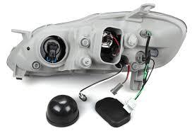 03 08 toyota corolla altis black projector headlights ebay
