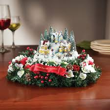 Thomas Kinkade Christmas Tree Village by The Thomas Kinkade Floral Centerpiece Hammacher Schlemmer