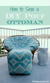 Poang Chair Cover Diy by 29 Comfortable Diy Poufs And Ottomans Shelterness