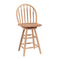 2475 Windsor Arrowback Swivel Stool Unfinished International ...