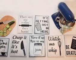 Kitchen Set Funny Sign Home Decor Wall Art Custom