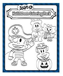 Help Julius Jr And His Friends Get Ready For Halloween In This Fun Coloring Book