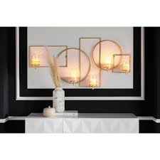leonique wanddekoobjekt luciana wandleuchter kerzenhalter wandkerzenhalter wanddeko aus metall mit 5 teelichthaltern