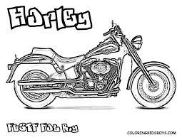 Fat Boy Touring FLSTF Harley Davidson Coloring At YesColoring