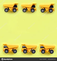 Many Small Yellow Toy Trucks Texture Background Fashion Pastel ...