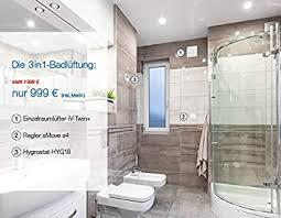 die 3in1 badlüftung der inventer badezimmer lüfter im set 1001 3002