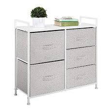 mdesign kommode aus stoff schmaler schrank organizer mit 5 schubladen praktisches aufbewahrungssystem für schlafzimmer oder schlafsaal