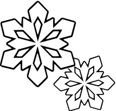 Winter Coloring Pages Snowflakes Clip Art Black And White